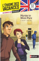 L-enigme des vacances de la 4eme a la 3eme - murder in west park