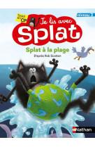 Je lis avec splat niveau 3 : splat a la plage - vol11