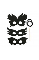 3 masques a gratter : festival + grattoir