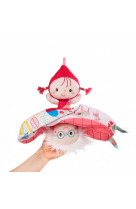 Chapeau rond rouge poupee reversible