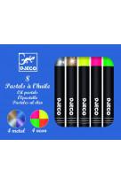 8 pastels a l-huile metal neon