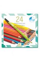 Les couleurs - 24 crayons aquarellables