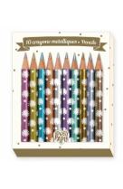 Crayons- 10 crayons metalliques