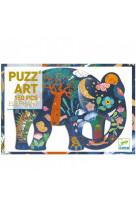 Puzz art 150 pcs - elephant