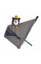Doudou chat gris - alphonse les moustaches