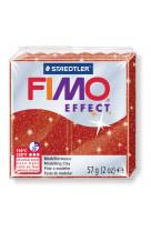 Fimo effect 57g rouge paillette