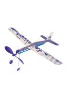 Avion a elastique bleu petites merveilles