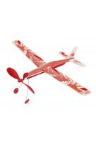Avion a elastique rouge petites merveilles