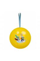 Boule metal jaune 7cm grande famille
