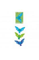 Oiseau equilibriste vert - les petites merveilles