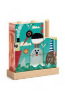 9 cubes puzzle bois : puzz-up sea