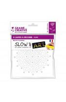 5 cartes a decorer slow and art 15x15 : graphique blanc